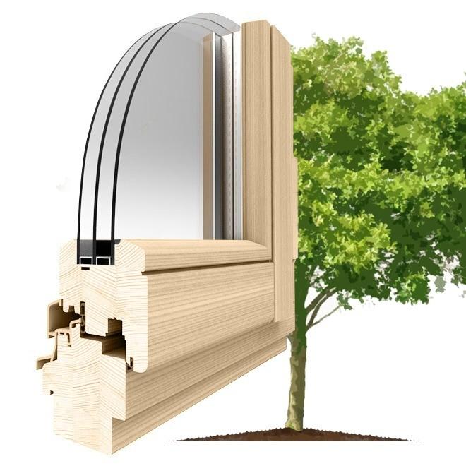 Деревянные окна из ольхи